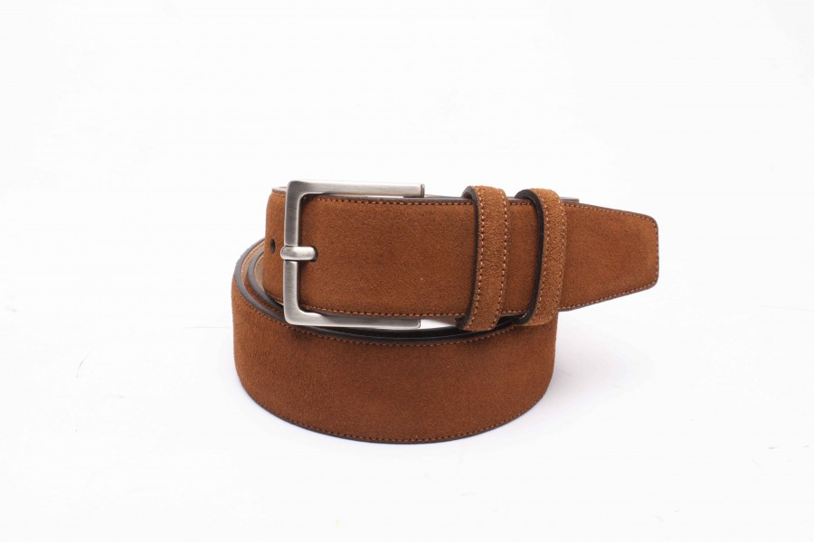 CEINTURE VELOURS TABAC