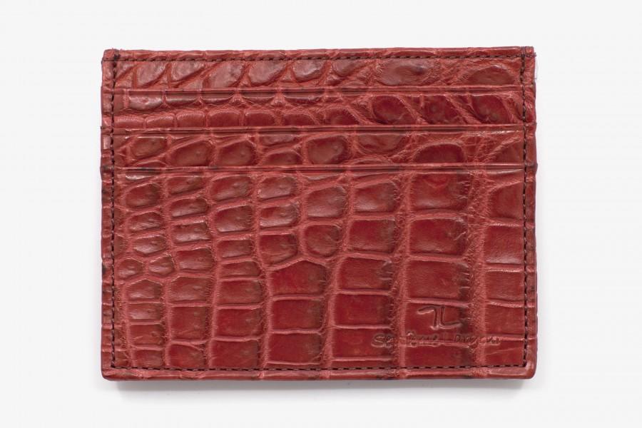 Porte cartes Croco