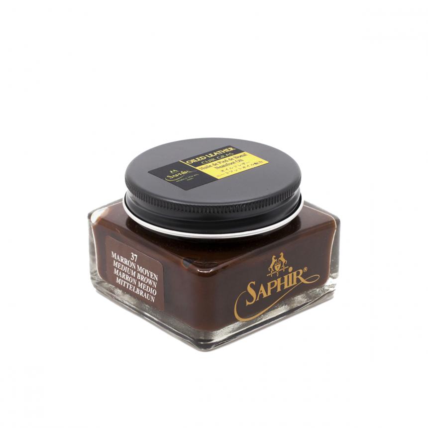 Oiled Leather Cream Medium Brown Saphir