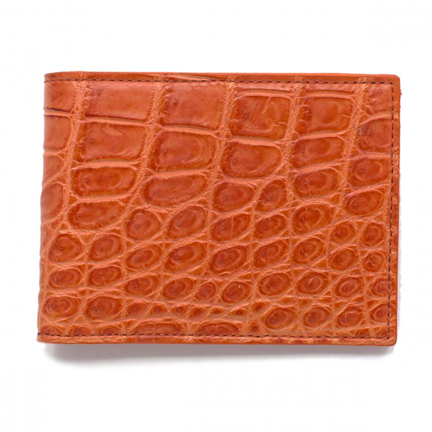 Portefeuille croco orange