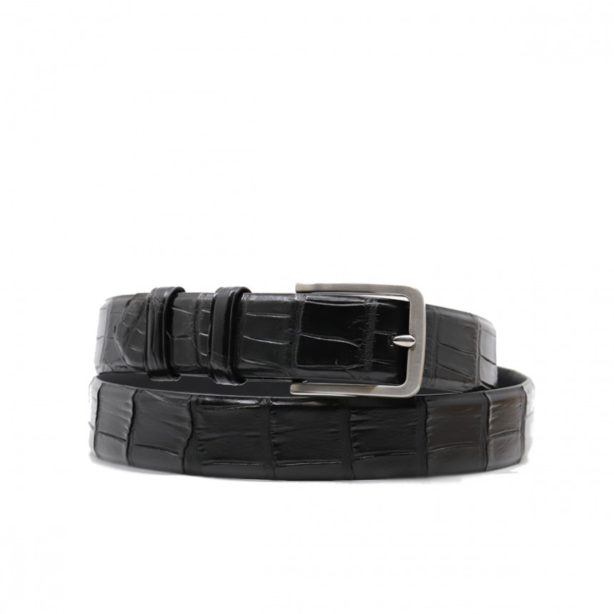 ceinture crocodile noire