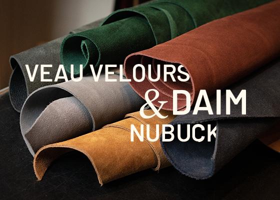 Comment différencier le Nubuck du Veau Velours et du Daim ?